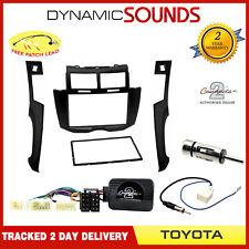equipo estéreo para coche Caja doble DIN & Volante Kit para TOYOTA YARIS MK2