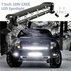 "7"" 18W Cree Led Work Light Bar Flood Spot ATV SUV Boat Driving Lamp Offroad 4WD"