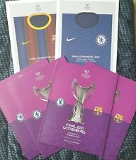 More details for barcelona v chelsea uefa women's champions league final 2021 programme + poster
