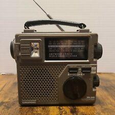Grundig FR-200 AM/FM/SW1/SW2 World Band Receiver Radio w/ Light & Dynamo Crank