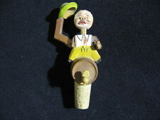 Vintage Anri Hand Carved Wine or Bottle Topper Figure Man tipping his Hat