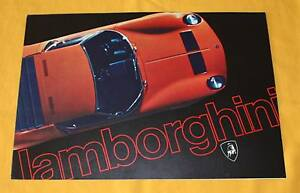 Lamborghini Miura Jarama Espada Prospekt Brochure Depliant Prospetto Catalog