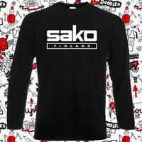 SAKO Finland Pistols Riffle Firearms Men's Long Sleeve Black T-Shirt Size S-2XL