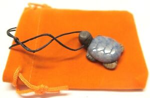 Gemstone Turtle Necklace Natural Healing +[Pick your choice of Gift Bag]