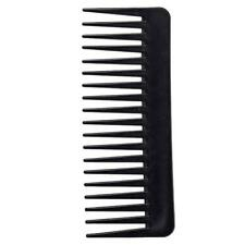 BLACK SALON HAIRDRESSING SHOWER WIDE TOOTH DETANGLER MASSAGE HAIR BRUSH COMB