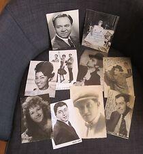 Ensemble de 10 photos ou cartes postales avec dédicaces personnalités  diverses