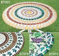 Elastic Fitted Vinyl Indoor Outdoor Round Patio Table