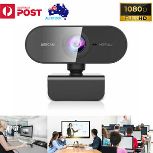 Full HD 1080P Webcam with Microphone USB Streaming Camera For PC MAC Laptops AU