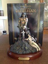 Frank Frazetta's Moore Creations Barbarian Statue Hand-painted Nib