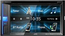 "JVC KW-V25BT CAR STEREO DOUBLE DIN 6.2"" TV CD USB DVD BLUETOOTH IPHONE PANDORA"