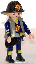 FEUERWEHR MANN US FIREFIGHTER PLAYMOBIL zu Schutzweste Helm Funk 5363 5362 1680