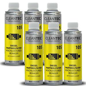 6x CleanTEC DPF Cleaner Dieselpartikelfilter Hochleistungs Reiniger 375ml 105