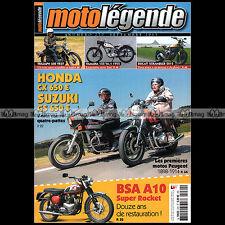 MOTO LEGENDE N°270-b TRIUMPH TR5 T BSA A10 HONDA CX 650 E PHILIPPE CANOUI MASH