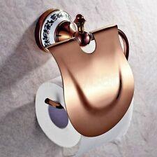 Rose Gold Wall Mount Bathroom Paper Holder Toilet Tissue Roll Holder Kba385