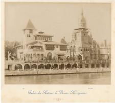 ND. France, Paris, Palais des Nations, La Bosnie-Herzégovine  Vintage albumen pr