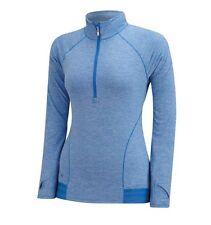 Adidas Para Mujer Azul Advance Heather rango de golf desgaste 1/2 Cremallera Suéter Medio 12 Nuevo