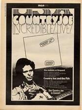 Country Joe Incredibly Live LP advert Time Out cutting 1972