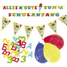 Deko Set  Schulanfang Einschulung - Ballons Girlande Konfetti Partykette -