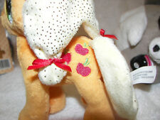 "My Little Pony Applejack  Plush 6""  and littliest pet shop dog set of 2 likekwnn"