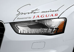 Sports mind Powered by JAGUAR X S Tipe Racing Decal sticker emblem SILVER/RED