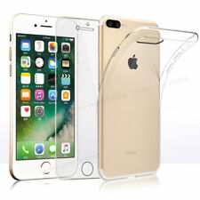 Apple iPhone 8Plus Ultra Thin Clear TPU Gel Case Cover &Tempered Glass Protector