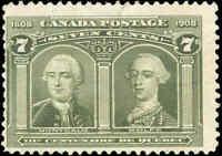 Used Canada 1906 7c F Scott #100 Quebec Tercentenary Issue Stamp