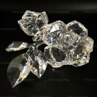 RARE Retired Swarovski Crystal Roses 890285 Mint Boxed Statement Piece Large