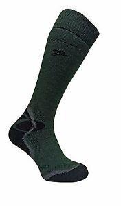 Dr Hunter - Mens Merino Wool Extra Long Knee High Padded Heel Green Socks