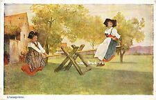 CPA  L'escarpolette - Folklore - Types  (481402)