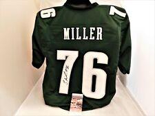 SHAREEF MILLER Signed / Autographed Philadelphia Eagles Green Custom Jersey JSA