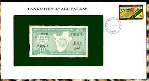 Banknotes of All Nations Burundi 10 Francs 1989  p-33b UNC Prefix AF