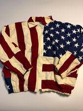 Limited Edition San Francisco Mens Xl 1993 The Flag Stars Stripes Jacket Flaws