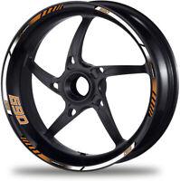 690 Duke motorcycle wheel decals 12 rim stickers laminated set smc white