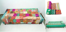 patchwork Kantha Quilt Handmade Cotton Bedspread Couch Cover Blanket Throw
