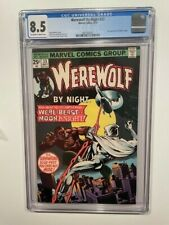 WEREWOLF BY NIGHT 33 CGC 8.5 VF+ Marvel 2nd App Moon Knight White Pages *RARE*