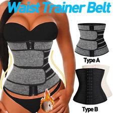 Women Waist Trainer Belt Sweat Body Shapers Corset Tummy Control Slimmer Belt US