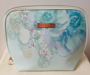 Ted Baker Cosmetic Makeup Wash Travel Bag Large Mint Green Crystal FAST POSTAGE