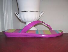 Coach Trixie Magenta/Pink Thong Flip Flop/Sandals Women's Sandals Size 8.5 new