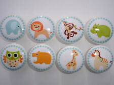 Set of 8 Boys Safari Jungle Animal Knobs