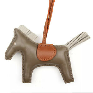 Real genuine leather Rodeo Horse Tan Pm Bag charm,perfect for herme Birkin