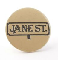 Vintage Jane St. Lasalle Illinois Button Pin Pinback Badge Street Sign