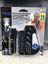 Waterproof Carabiner Power bank LED flashlight flameless Lighter  Camping ARC