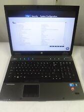 "HP EliteBook 8740w 17"" Core i7 1.60Ghz  4GB/250GB Wewbcam LINUX Laptop + AC"