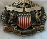 Vintage United States Constitution Commemorative 200th Anniversary Belt Buckle