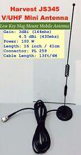 Harvest JS345 Dual-Band (144/430mhz) V/U Mobile Antenna