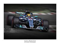 Lewis Hamilton 2017 F1 World Champion digital art print