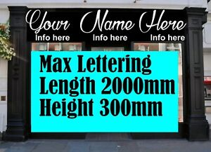 Shop Sign Signage signs Business Advert Vinyl Lettering Advertising stickers
