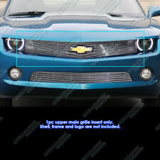 Fits 2010-2013 Chevy Camaro LT/LS/RS/SS Billet Grille Grill Insert W/ Logo Show