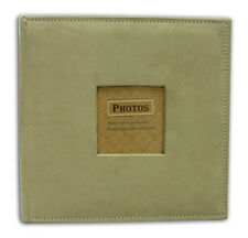 "Photo Album, Holds 200 4""x6"" pictures, 2 per page, Suede Cover, Beige"