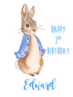 PERSONALISED BIRTHDAY CARD BEATRIX POTTER PETER RABBIT BOY GIRL 2ND 3RD 4TH 5TH
